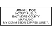EXP-MD - Maryland Commission Expiration Stamp