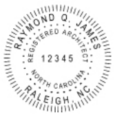 Registered Architect<BR>Traditional<BR>Handle Stamp