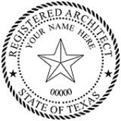Registered Architect<BR>Embossing Seal