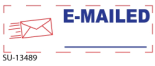 "2 Color ""E-Mailed"" <BR> Title Stamp"