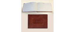 GIP902B - Leather guest book hard bound