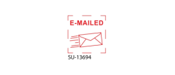 "SU-13694 - Small ""E-Mailed"" <BR> Title Stamp"
