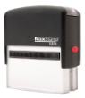 We manufacture 18 different sizes of custom self-inking rubber stamps.
