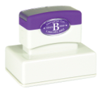 We manufacture over 17 sizes of MaxLight Custom Pre-Inked Rubber Stamps good for 100,000 thousand impressions when re-inked.